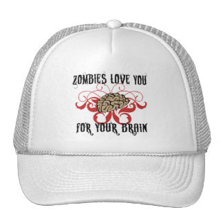 Zombies Love Your Brains Trucker Hat
