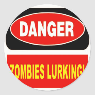 Zombies Lurking Classic Round Sticker