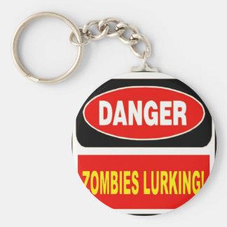 Zombies Lurking Keychain