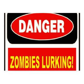 Zombies Lurking Postcard
