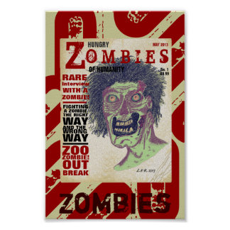 Zombies Magazine Mini Poster