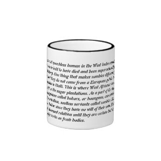 Zombies Ringer Coffee Mug