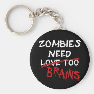 Zombies Need Brains - keychain