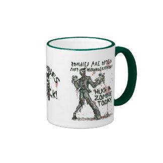 Zombies Need Hugs Too Ringer Coffee Mug