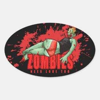 Zombies Need Love Sticker