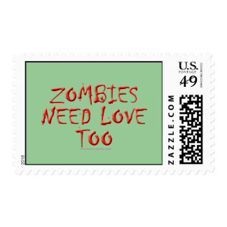Zombies Need Love Too Postage