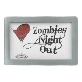 Zombies Night Out Belt Buckle