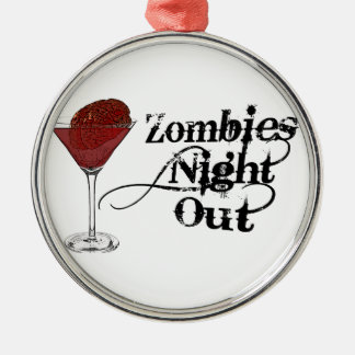 Zombies Night Out Ornaments