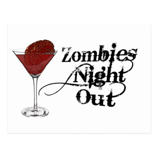 Zombies Night Out Postcard
