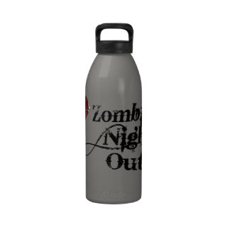 Zombies Night Out Reusable Water Bottles