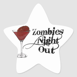 Zombies Night Out Sticker
