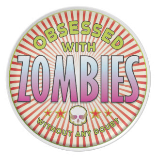 Zombies Obsessed R Party Plates