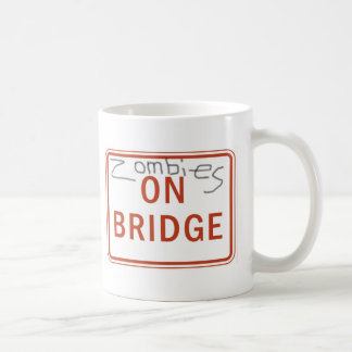 Zombies on Bridge Classic White Coffee Mug