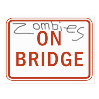 Zombies on Bridge Postcard