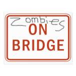 Zombies on Bridge Postcards
