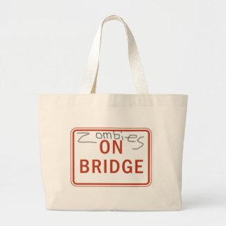 Zombies on Bridge Tote Bags
