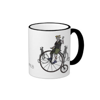 Zombies on Penny Farthings, mug