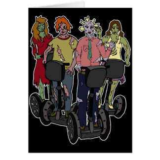 Zombies on Segways 2, greeting card