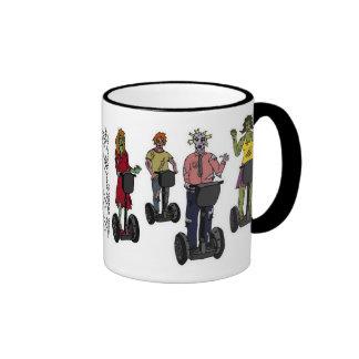 Zombies on Segways, mug Ringer Mug