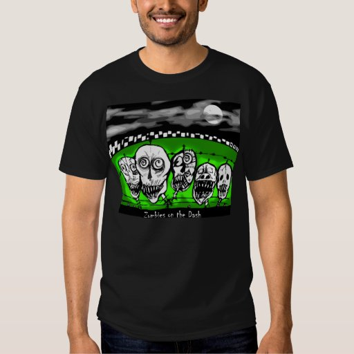 zombies on the dash halloween t by Cindy Ginter T-shirt