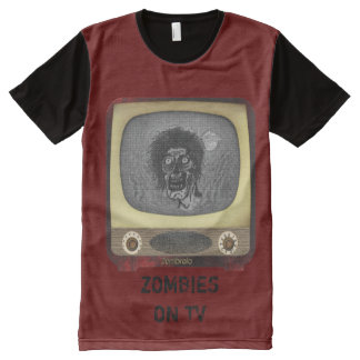 Zombies on TV All-Over Print T-shirt