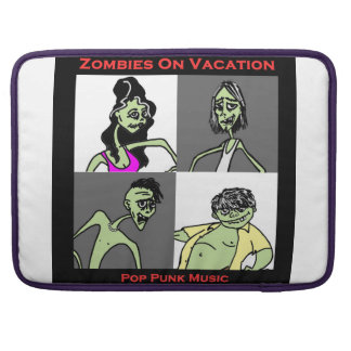 Zombies On Vacation - Four Faces Sleeve For MacBooks