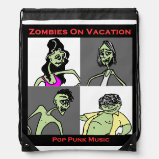Zombies On Vacation - Four Faces Backpack