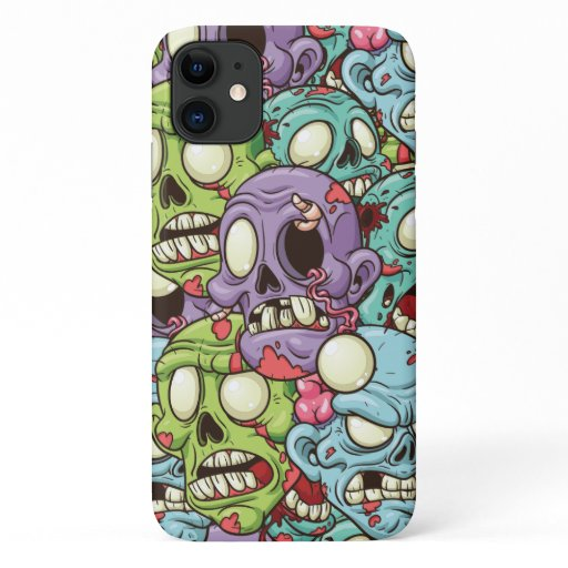 Zombies Pattern Halloween iPhone 11 Case
