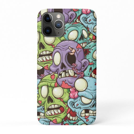 Zombies Pattern Halloween iPhone 11 Pro Case