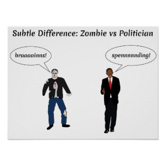 Zombies Politicians Poster