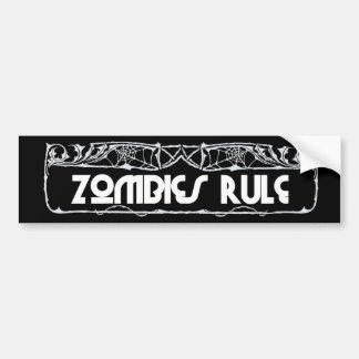 """""""Zombies Rule"""" Bumper Sticker"""