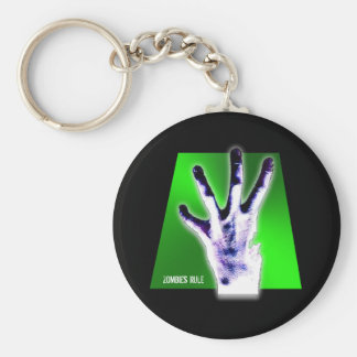 Zombies Rule Key Chain