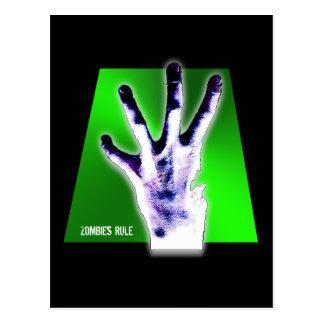 Zombies Rule Postcard