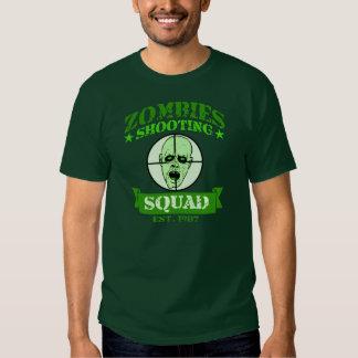 Zombies Shooting Squad T Shirts