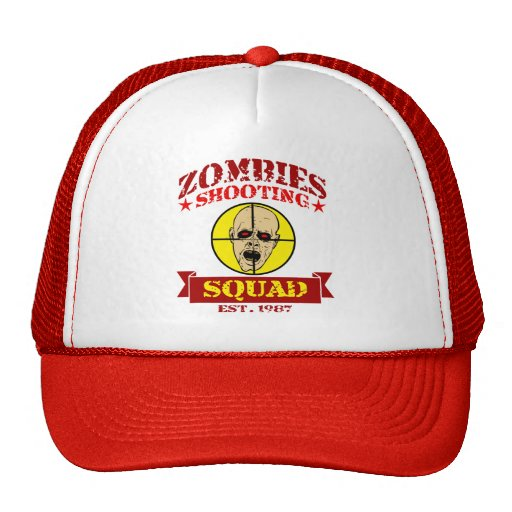 Zombies Shooting Squad Trucker Hat