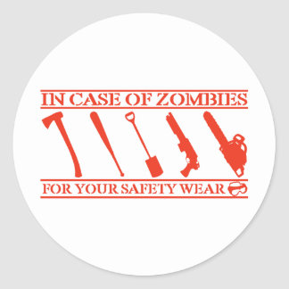 Zombies Round Stickers