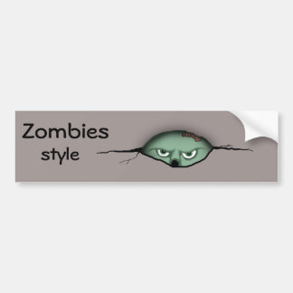 Zombies Style Bumper Sticker