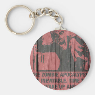 zombies - the apocalypse  is coming keychains