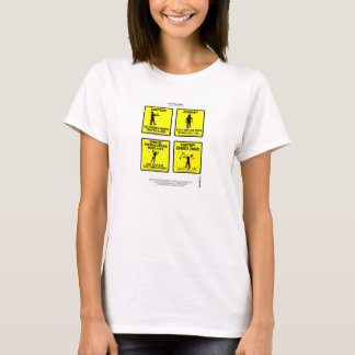 """Zombies """"The woking dead"""" """"lady tee's"""" caricaturas T-Shirt"""