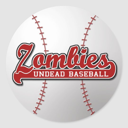 ZOMBIES Undead Baseball - sticker