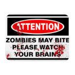 zombies vinyl magnets