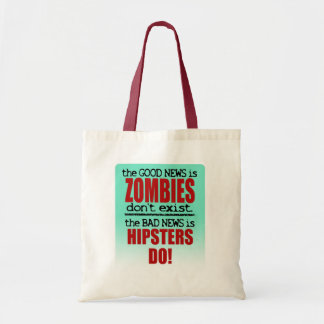 Zombies vs. Hipsters Tote Bag