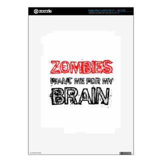 zombies want me for my brain skin for iPad 3