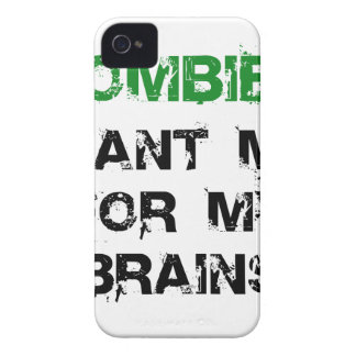 Zombies Want My Brains iPhone 4 Covers