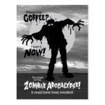 Zombies Wants Coffee Funny Postcard