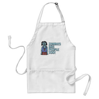 Zombies Was People Too Apron