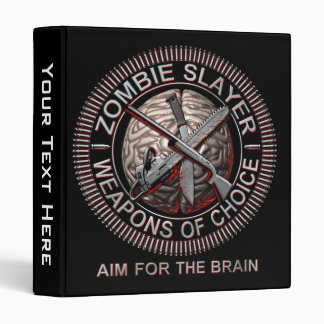 Zombies Weapons of Choice Ring Binders
