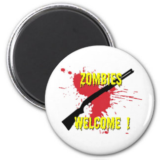 Zombies Welcome 2 Inch Round Magnet