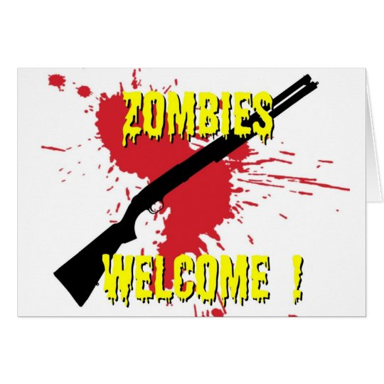 Zombies Welcome Card