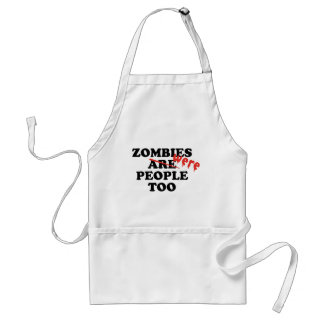 Zombies Were People Too Aprons